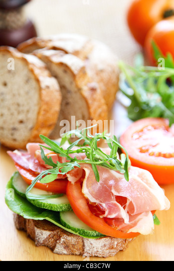 Ham sandwich - Stock Image