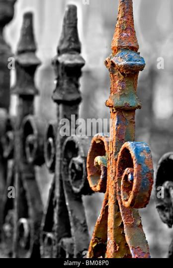 Popped railing - Stock Image