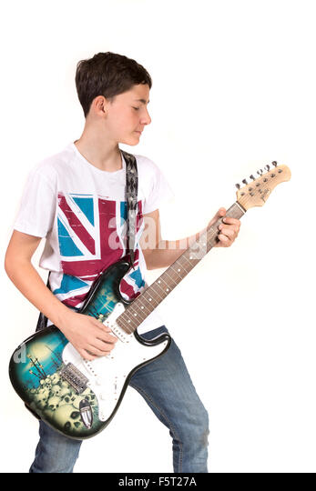 a description of todays youth playing the guitar
