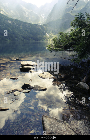 "Morskie Oko ""Marine Eye"" Lake, Tatra Mountains, Poland. - Stock Image"
