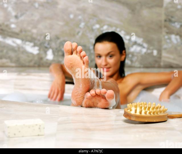 bath foam sit stock photos