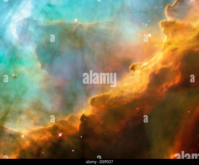 Stars in the Swan Nebula - Stock Image