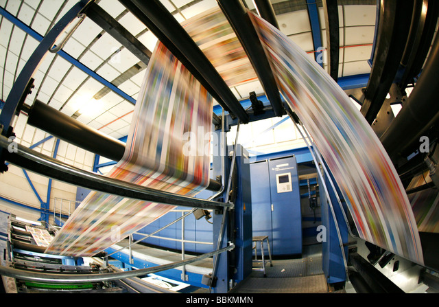 Dijkman Offset printing This company prints the financieel dagblad Dutch financial times kidsweek and other media - Stock Image