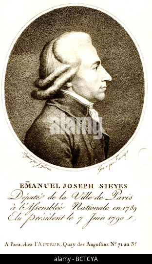 the part emmanuel joseph sieyes played in the early french revolution Abbé emmanuel joseph sieyès in late 1788 and early 1789 the french were attempting to determine how to constitute the as the revolution became more.
