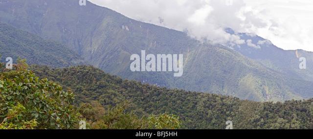 Views from the Yanacocha reserve near Quito, Ecuador. - Stock Image