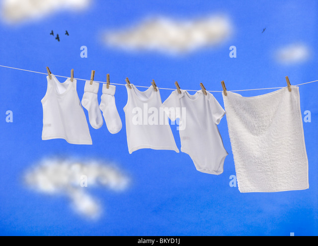 Clean white clothes