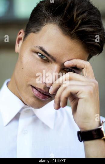 Magnetism. Elegant Handsome Man Fashion Model - Stock Image