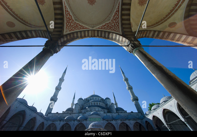 Turkey, Istanbul, Blue Mosque - Stock Image
