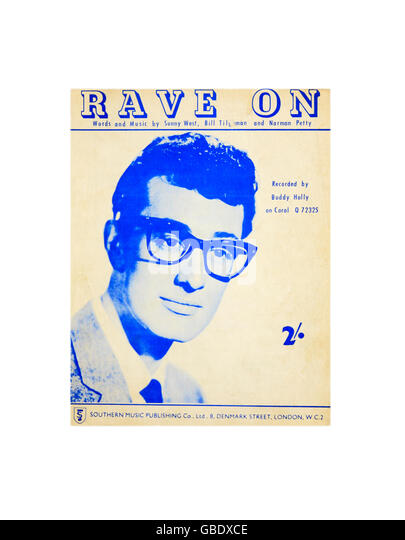 a-sheet-music-cover-for-rave-on-by-buddy